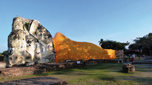 Bouddha couché (Wat Lokayasuth - Ayutthaya)