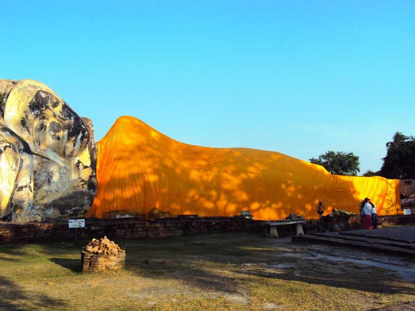 bouddha couché Ayutthaya