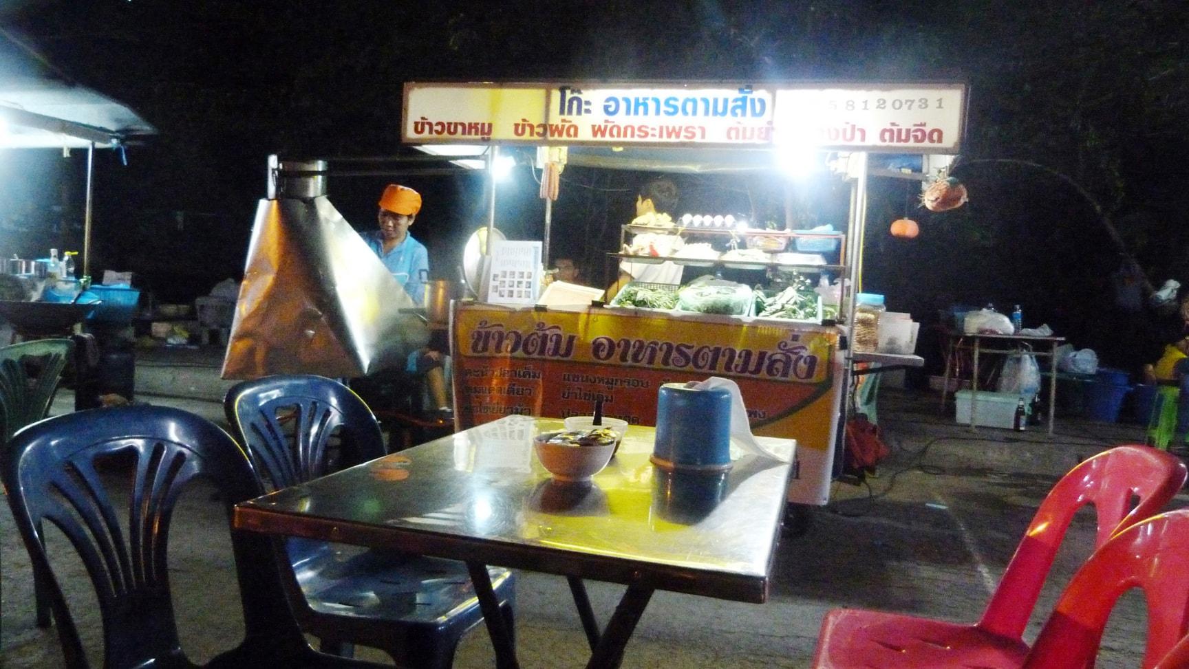 street food market Ayutthaya thailande