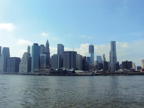 Le panorama de la ville de New York depuis Brooklyn