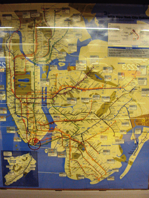 Plan du métro de New York (USA)