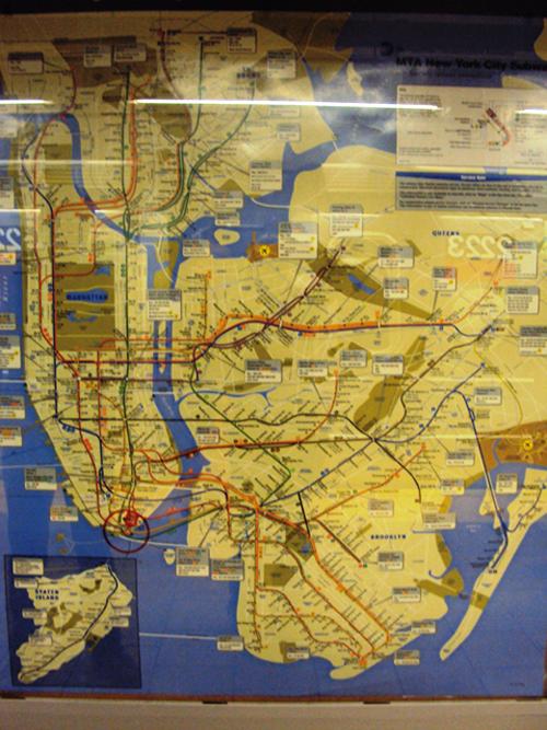 Plan du métro de New York (USA)
