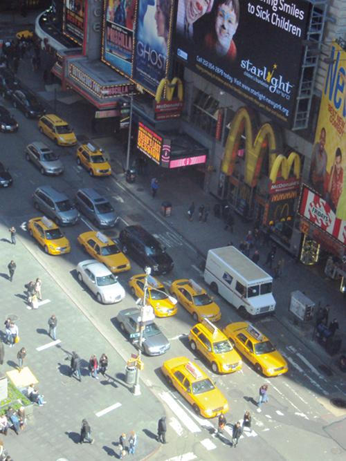 Les taxis règnent en maîtres dans le centre-ville de Manhattan