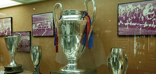 La coupe de la ligue des champions du FC Barcelone (Espagne)