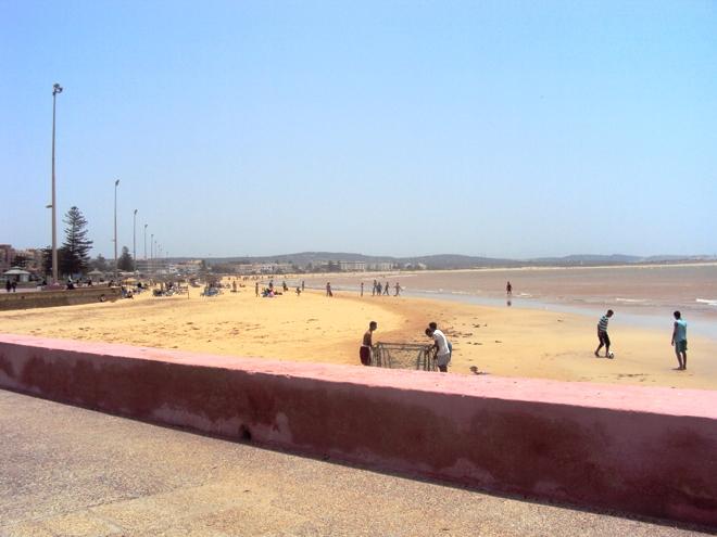 La plage d'Essaouira au Maroc