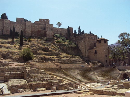 L'Alcazaba et le théâtre romain de Malaga (Andalousie-Espagne)