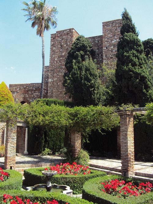 Jardin de l'Alcazaba de Malaga (Andalousie-Espagne)