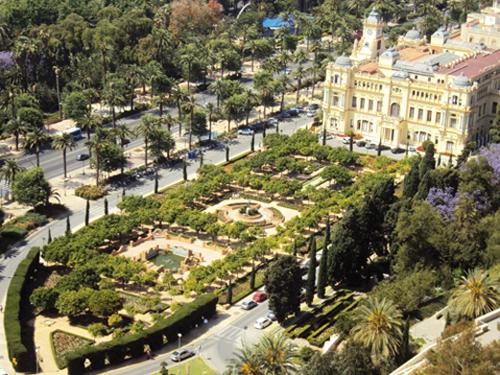 Les jardins de la mairie de Malaga (Andalousie-Espagne)