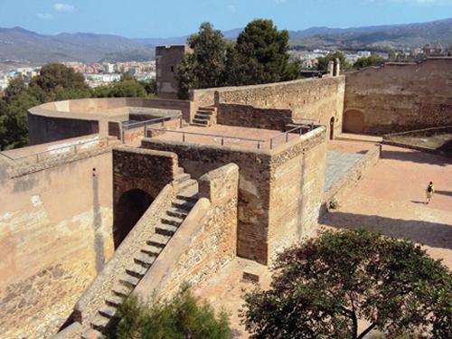 Les remparts du Gibralfaro de Malaga (Andalousie-Espagne)