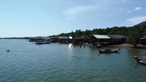 Village Musulman en front de mer (Thaïlande)