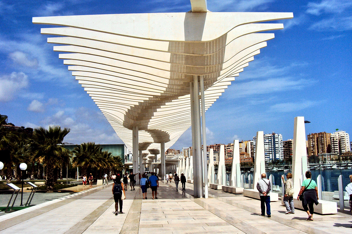 Esplanade Malaga Roadtrip Andalousie Espagne