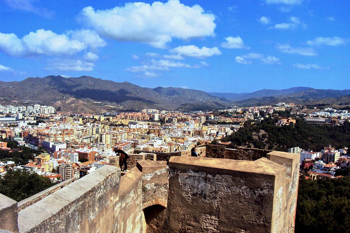 Vue Gibralfaro Malaga Roadtrip Andalousie Espagne