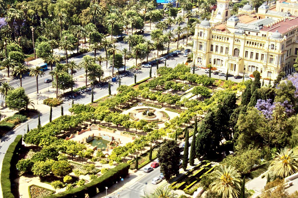 Vue Malaga Roadtrip Andalousie Espagne