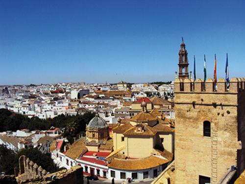 L'Alcazar de la puerta de Sevilla de Carmona (Andalousie-Espagne)