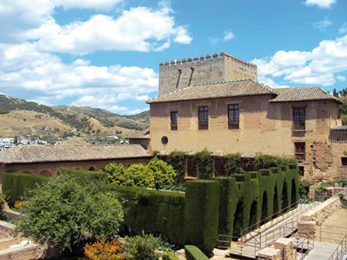 Le Palais Nasrides de l'Alhambra de Grenade (Andalousie-Espagne)
