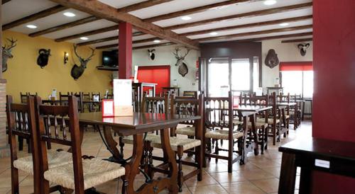 Le restaurant de l'hôtel El Rocio près de Cordoue (Andalousie-Espagne)