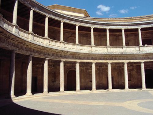 Le Palais de Charles Quint de l'Alhambra de Grenade (Andalousie-Espagne)