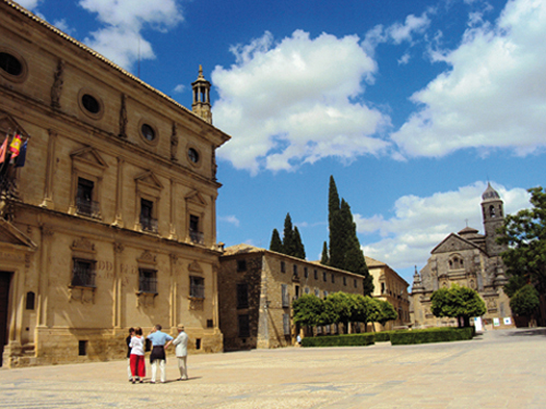 La Plaza Vazquez de Molina de Ubeda (Andalousie-Espagne)