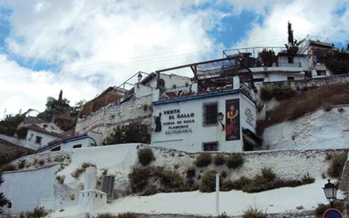 Venta el Gallo dans le quartier du Sacromonte de Grenade (Andalousie-Espagne)
