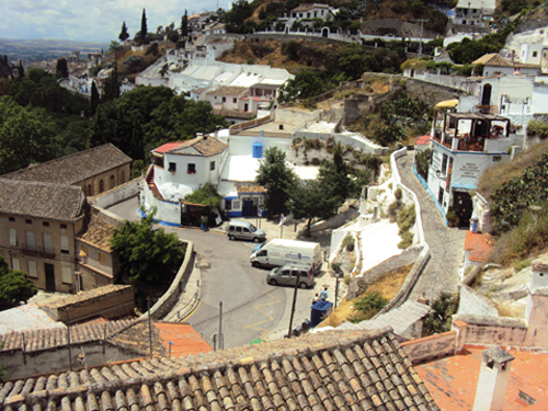 Le quartier du Sacromonte de Grenade (Andalousie-Espagne)