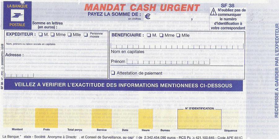 Le Mandat Cash Urgent est un des moyens les plus rapides pour récupérer de l'argent en espèces