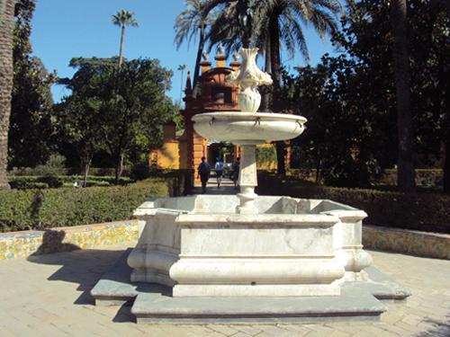 Les jardins de l'Alcazar de Séville (Andalousie-Espagne)