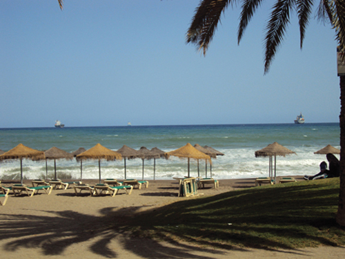 La plage de Malaga (Andalousie-Espagne)