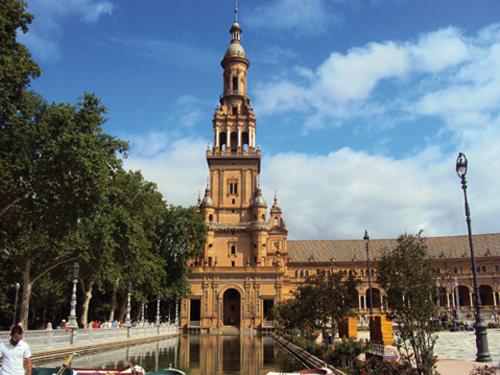 La Plaza Espana de Séville (Andalousie-Espagne)