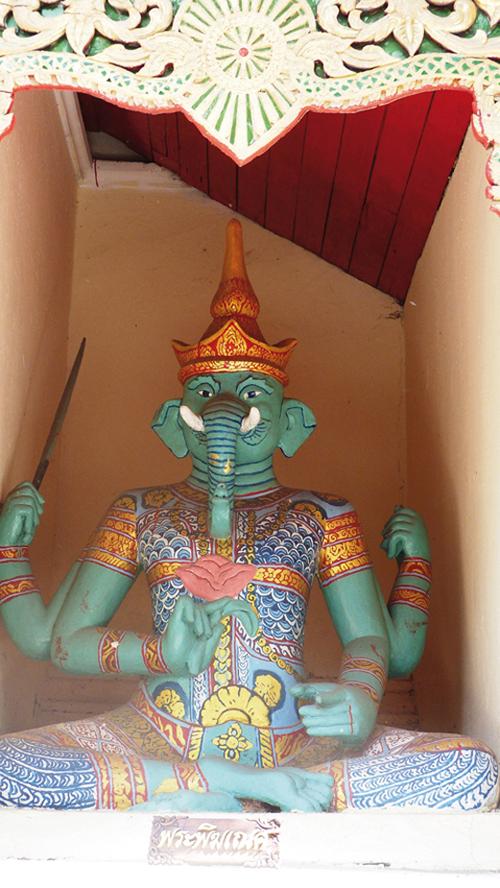 La statue du dieu hindou Ganesh à Doi Suthep (Chiang Mai-Thailande)