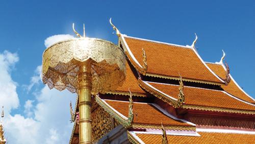 Le temple Doi Suthep à Chiang Mai en Thailande