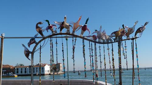 Le verre la spécialité de l'île de Murano près de Venise