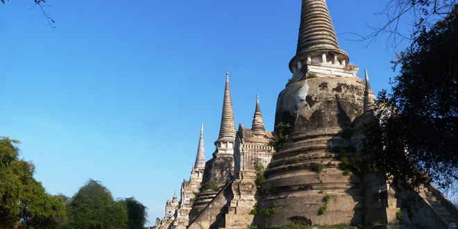 Un des nombreux temples de Ayutthaya en Thaïlande