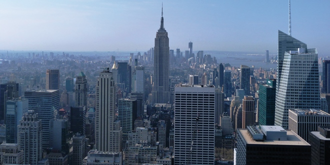 La vue sur L'empire State Building depuis Top of the Rock