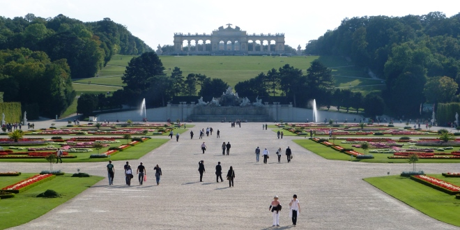 Les jardins du château de Schönbrunn à Vienne