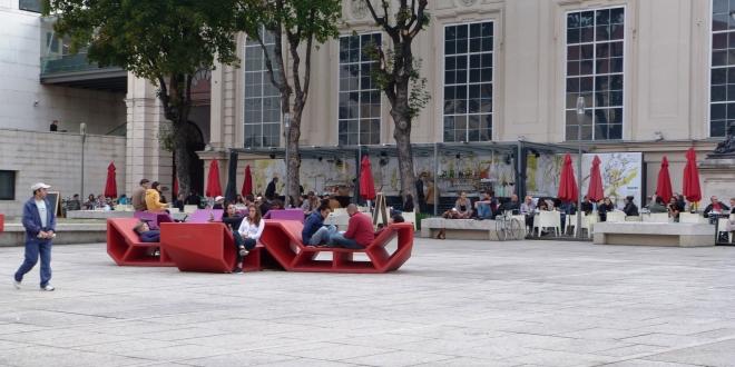 Le Museum Quarter, un immense centre culturel à Vienne