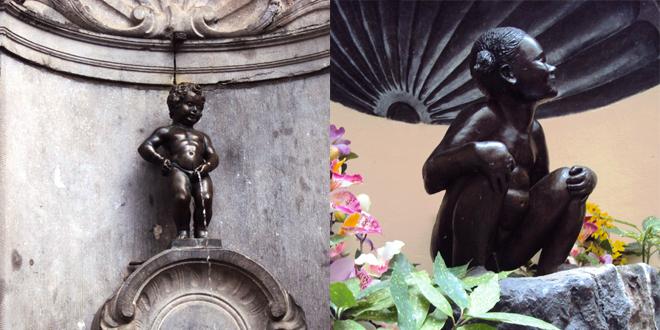 Les fameuses statues de Bruxelles