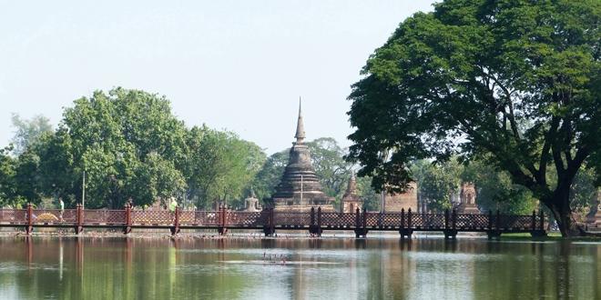 Le magnifique parc historique de Sukhothai