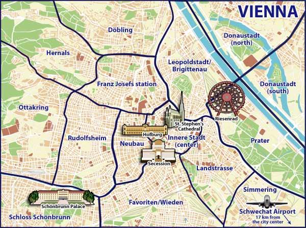 Visiter Vienne : le plan de la ville
