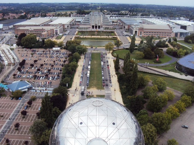 Vue sur Bruxelles depuis l'Atomium