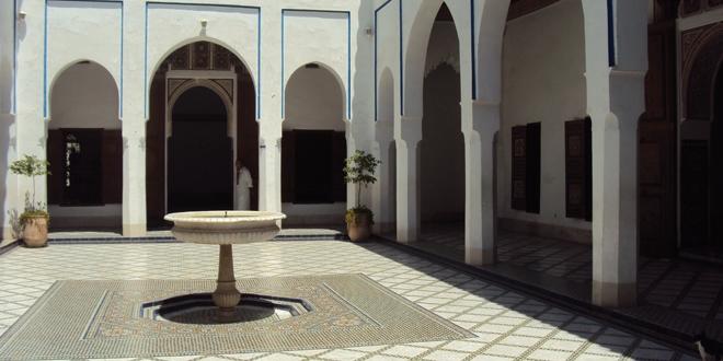 Un des patios du musée Dar Si-Saïd à Marrakech