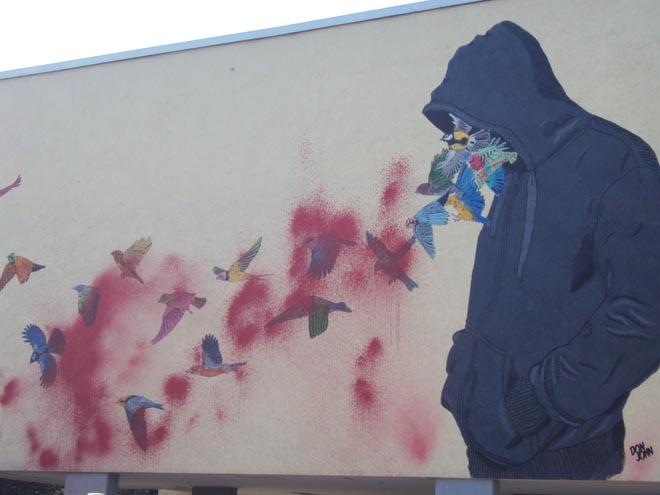 Street art dans le quartier de Kreuzberg à Berlin