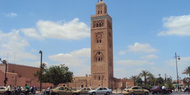 Le minaret de la mosquée Koutoubia à Marrakech