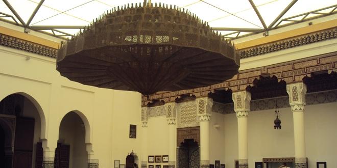 Le grand luminaire en cuivre du musée de Marrakech