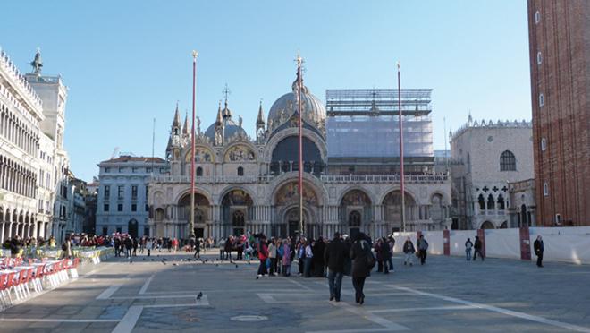 La basilique Saint Marc sur place Saint Marc à Venise