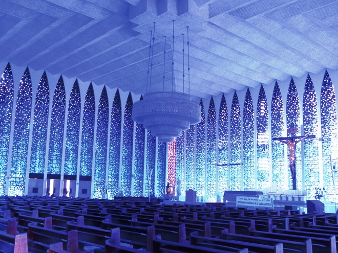 Le magnifique Sanctuàrio Dom Bosco de Brasília