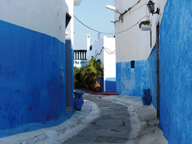 Une ruelle dans la kasbah des Oudayas à Rabat