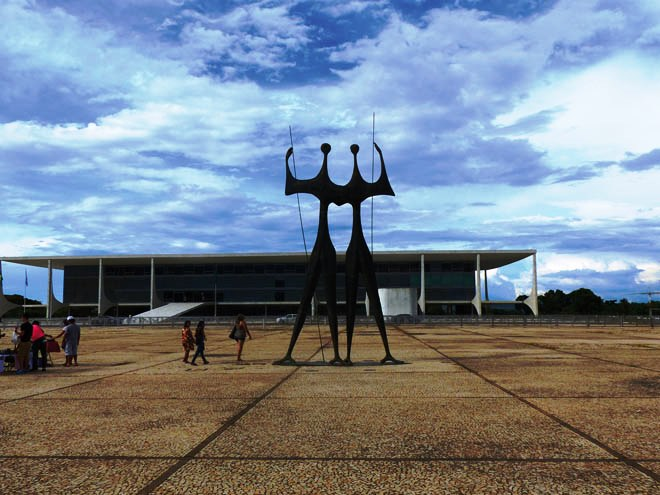 La Praça dos Trés Poderes de Brasília