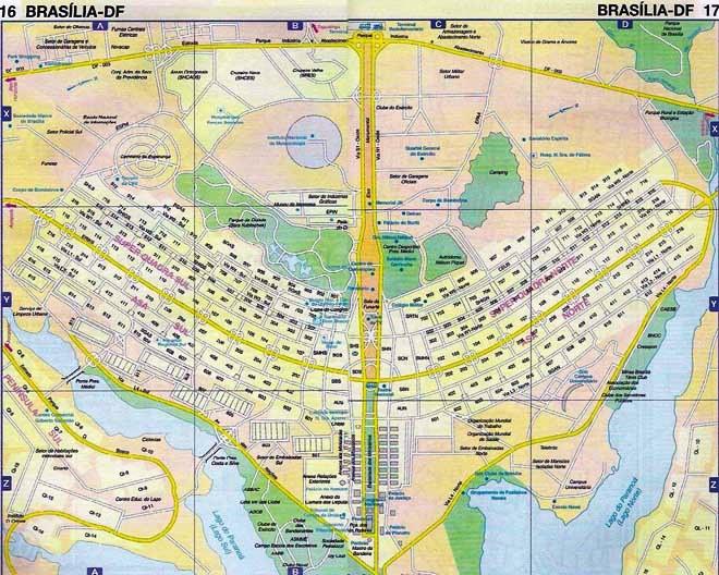 Le plan de Brasilia en forme d'avion