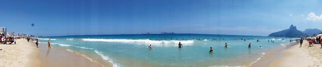 La plage d'Ipanema à Rio de Janeiro