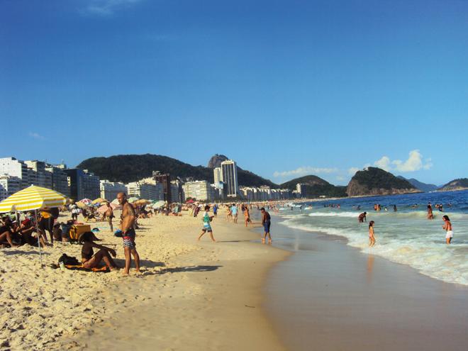 La mythique plage de Copacabana de Rio de Janeiro